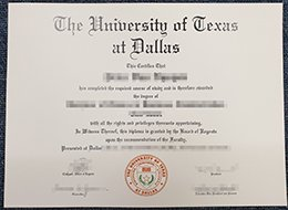 University of Texas at Dallas diploma