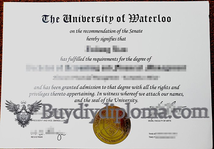 Get A Realistic Fake University of Waterloo Diploma