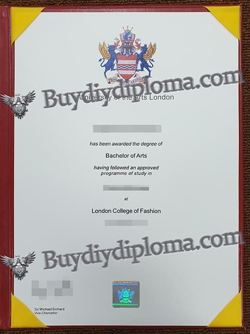 University of the Arts London fake diploma