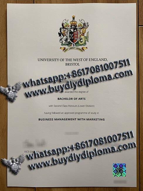 University of the West of England fake degree