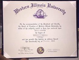 Western Illinois University diploma