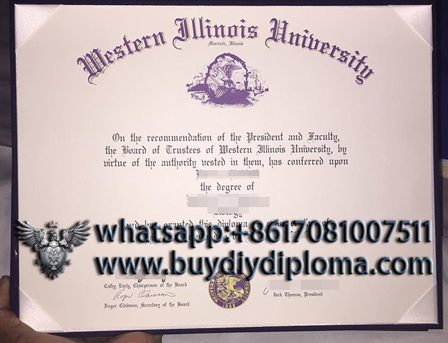 Fake Western Illinois University diploma, buy WIU degree