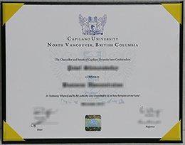 Capilano University diploma
