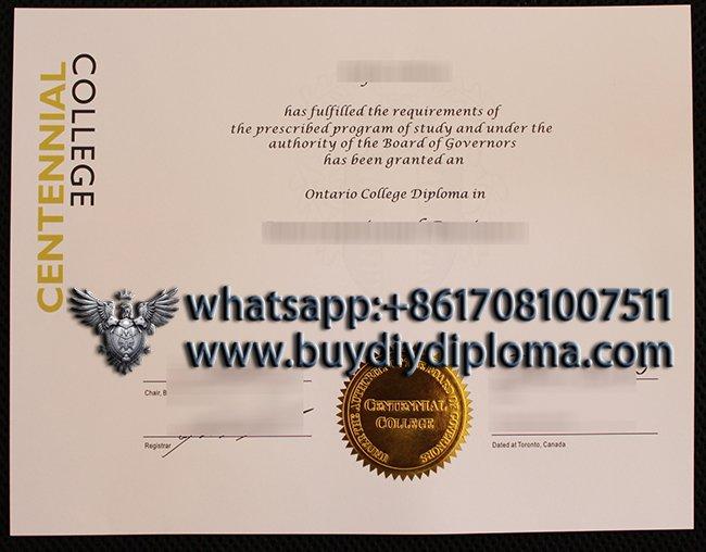 buy a fake Centennial College diploma in Canada