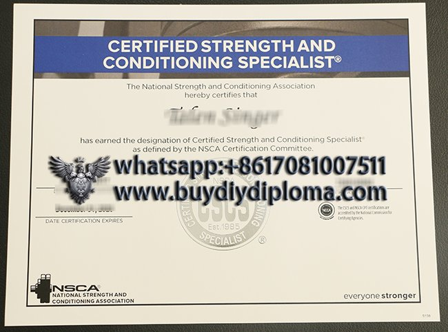 certificate strength and conditioning specialist