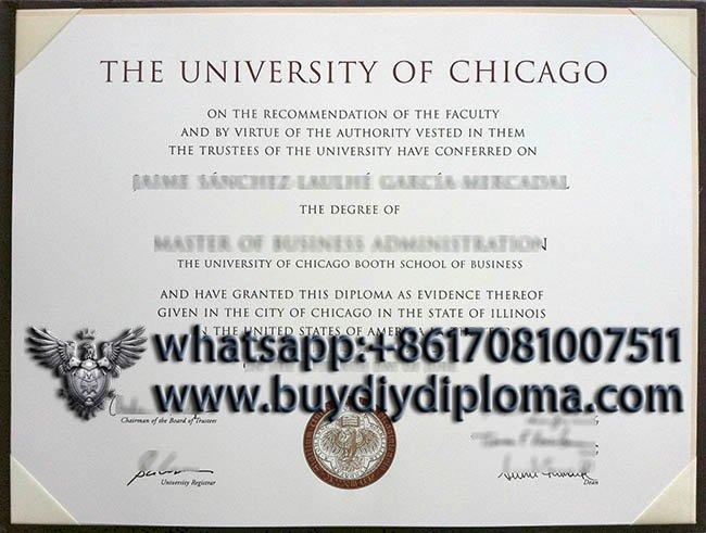 University of Chicago diploma