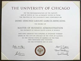 University of Chicago diploma