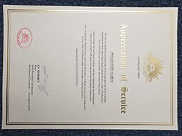 document of Appreciation of service