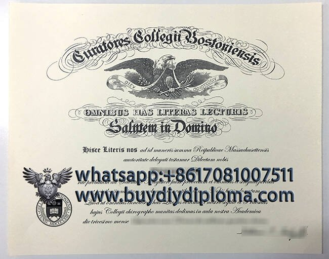 fake Boston College diploma