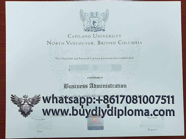 Capilano University Fake Diploma Sample
