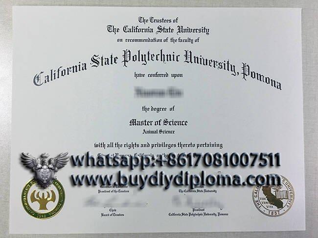 Copy a California state polytechnic university Pomona fake diploma