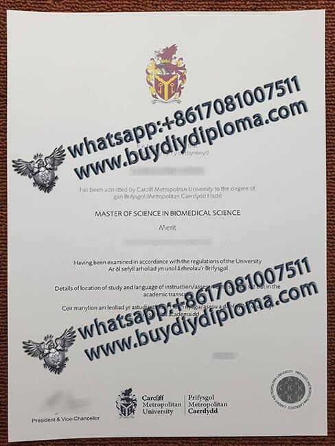 fake Cardiff Metropolitar University diploma