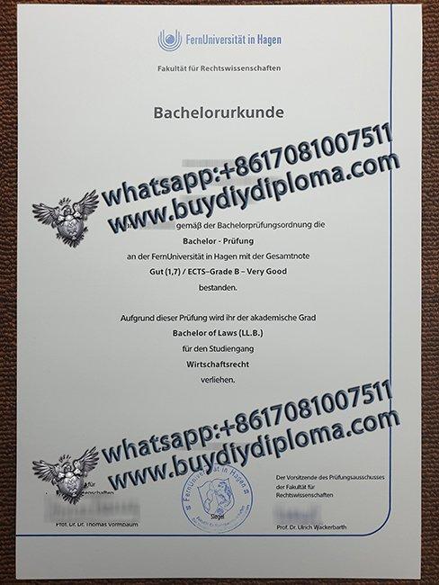 fake FernUniversitat in Hagen diploma