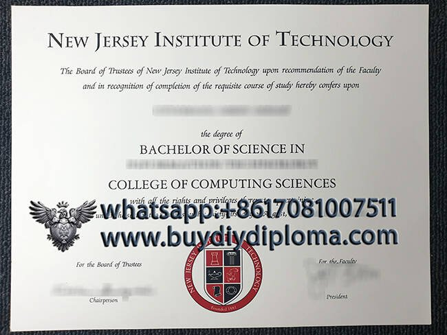 fake NEW ERSEY INSTITUTE OF TECHNOLOGY diploma