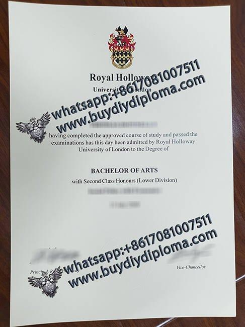 fake Royal Holloway University of London diploma