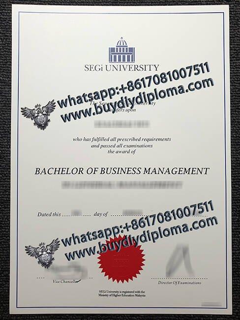 fake SEGi UNIVERSITY diploma