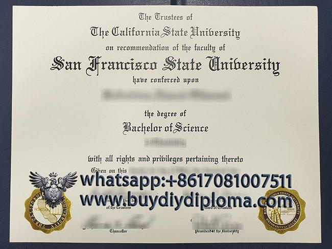 Order San Francisco State University Fake Diploma, Buy Fake SFSU Diploma Online.
