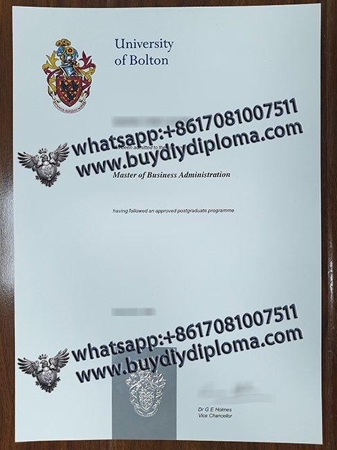 fake University of Bolton diploma