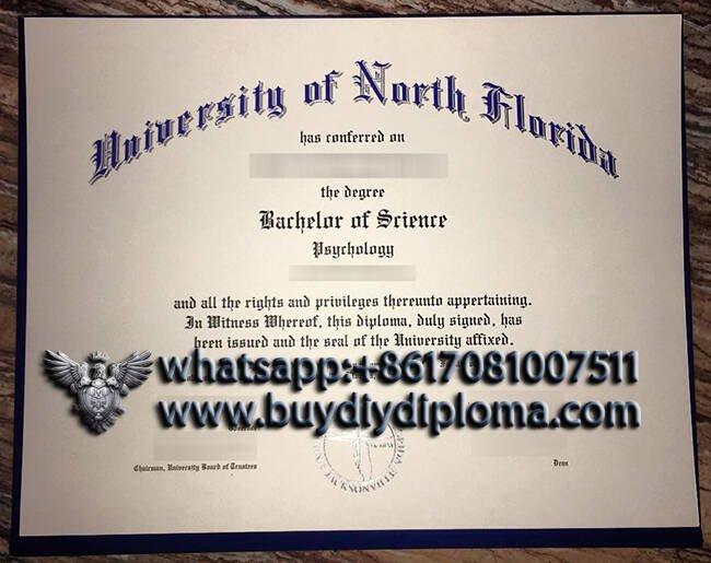 fake University of North Florida diploma