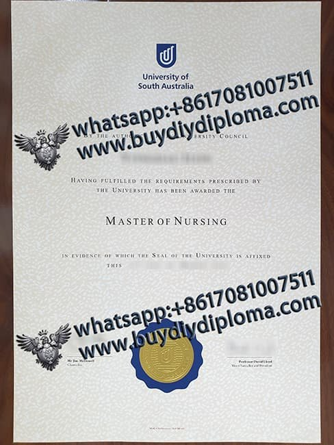 fake University of South Australia diploma