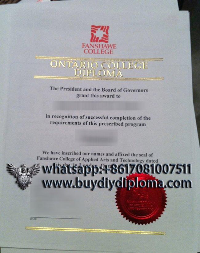 buy a fake Fanshawe College diploma online