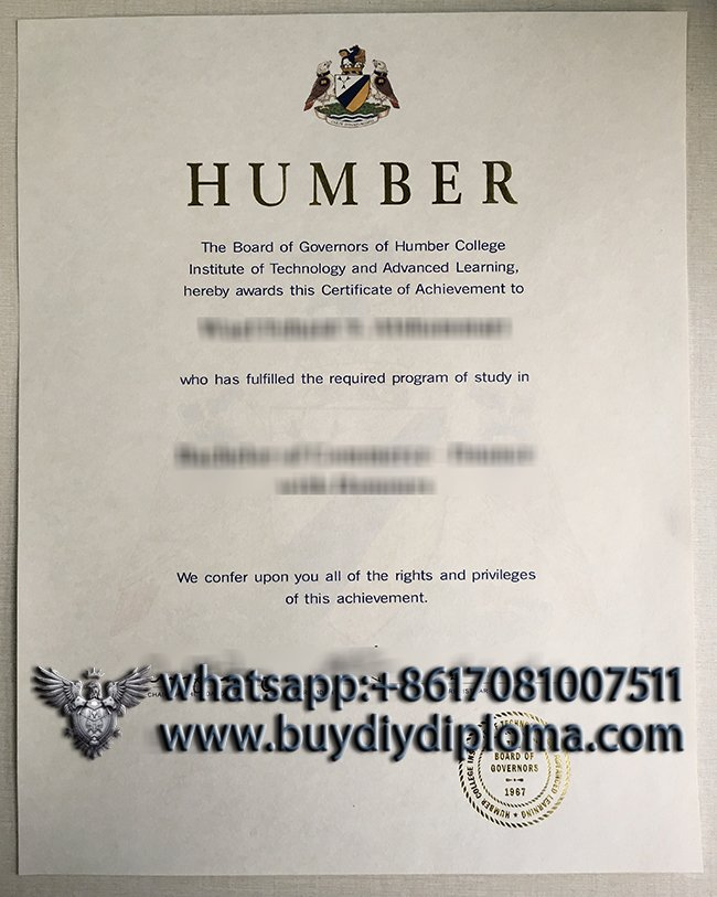 buy a fake Humber College diploma in Canada