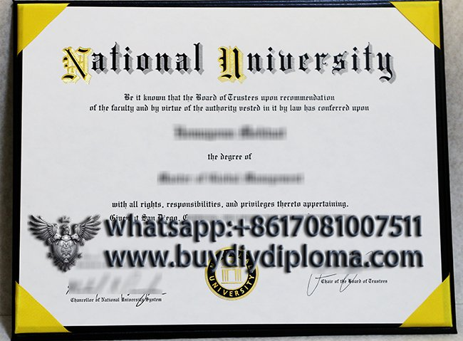 get a fake National University degree in California