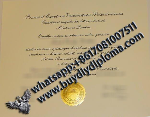 Princeton University Certificate