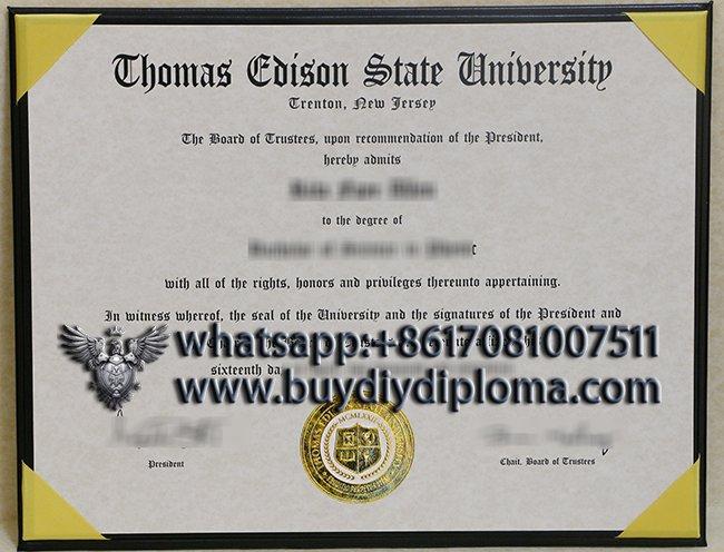 Thomas Edison State University degree
