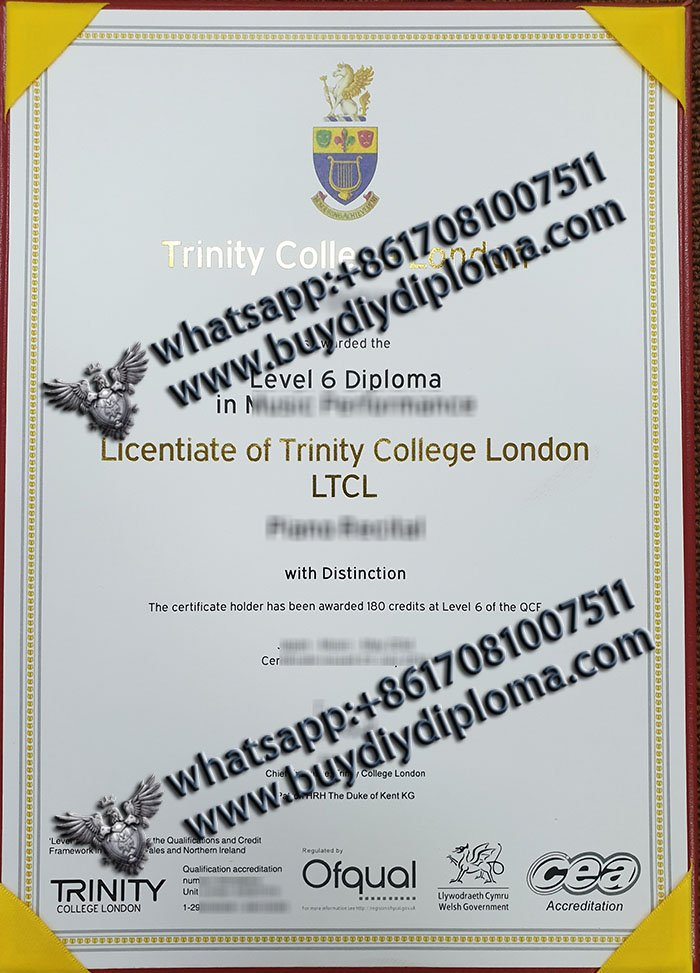 buy fake Trinity College London diploma in Music
