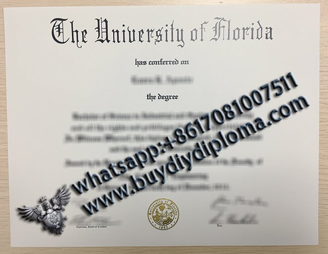 how to make a fake university diploma of university of florida in America?