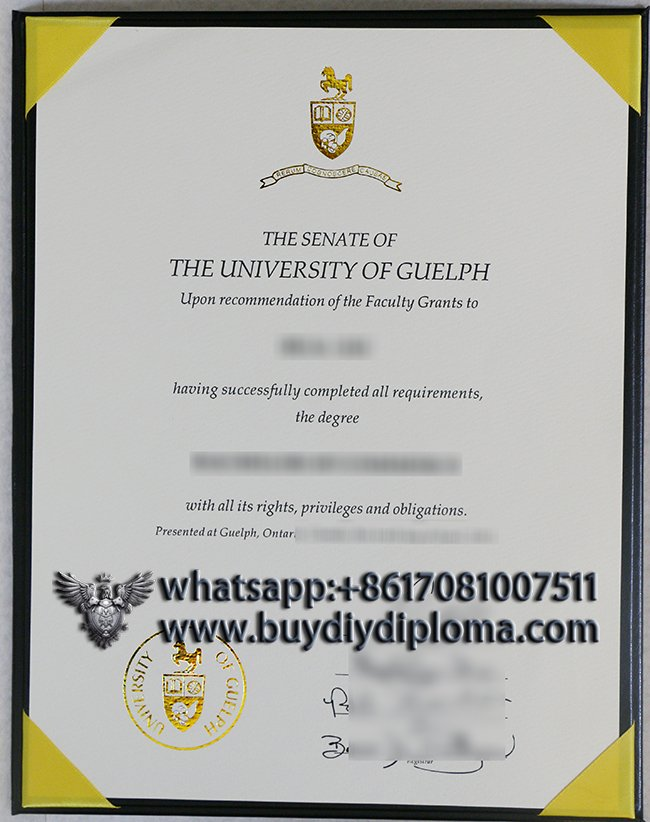 buy a fake University of Guelph diploma from Canada