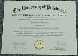 University of Pittsburgh diploma
