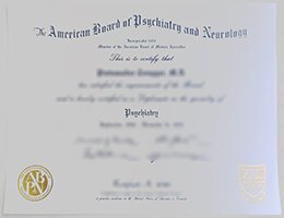 ABPN Certificate