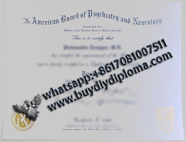 ABPN Certificate