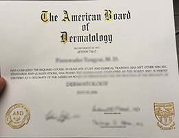 American-Board-of-Dermatology-Certificate