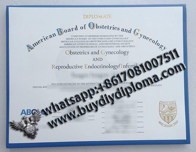 American Board of Obstetrics & Gynecology Certificate
