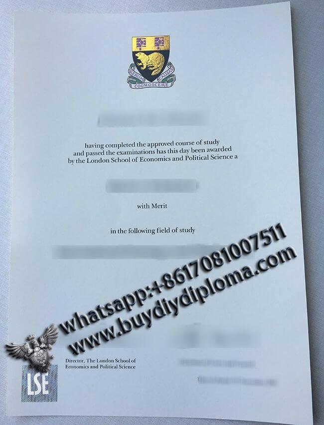LSE Diploma, Buy Fake LSE Diploma online from UK