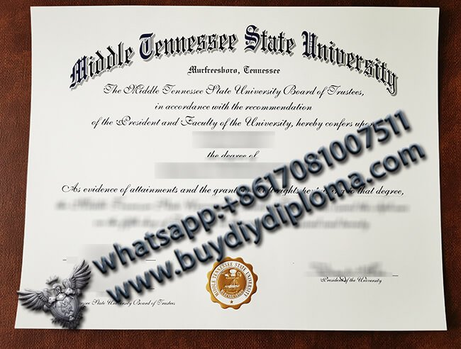 Middle Tennessee State University Diploma