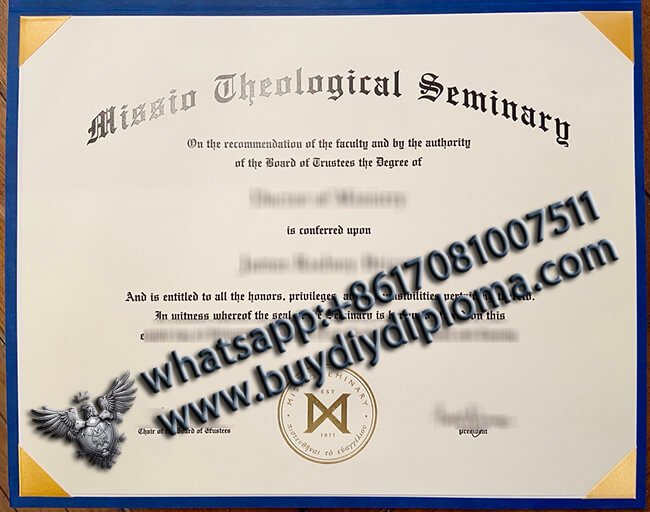 Missio Theological Seminary Diploma