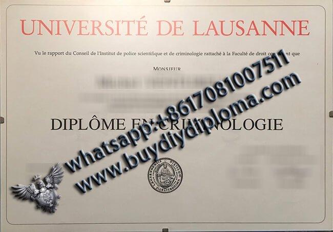 Université de Lausanne, diplômé Switzerland