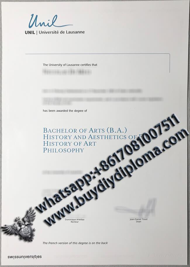 Need the Université de Lausanne diplômé, University of Lausanne degree/diploma from Switzerland
