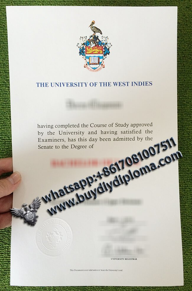 Where to Buy a Replica University of the West Indies Diploma, UWI Diploma