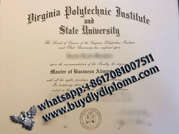 fake Virginia Tech MBA Diploma, Virginia Tech Degree