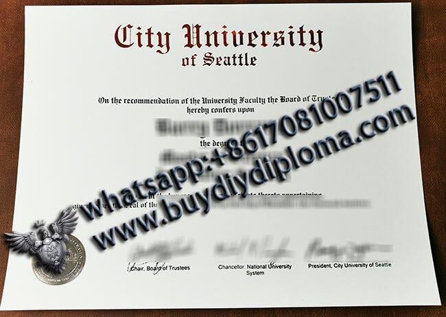 Buy City University of Seattle Diploma?