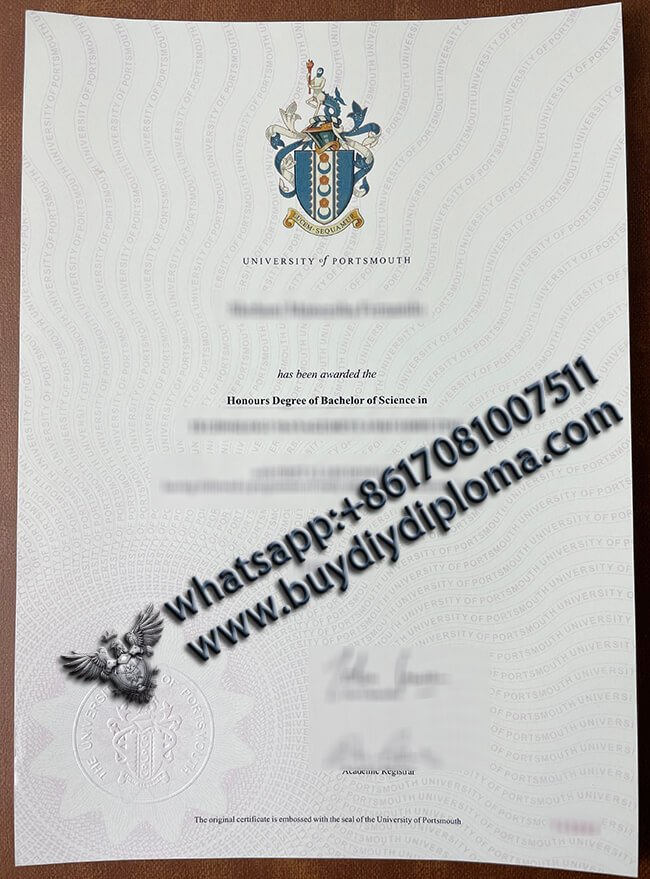 uni-of-portsmouth-diploma