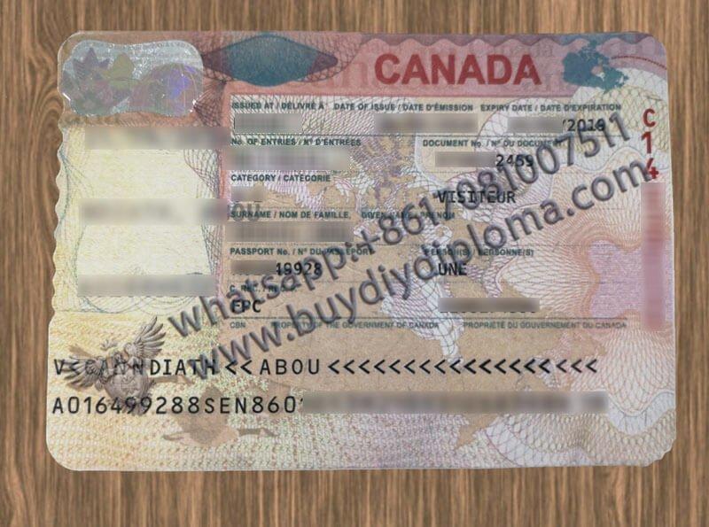 Buy Canadian VISA