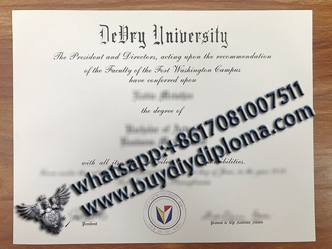 How to buy a fake DeVry University diploma with high quality and fast online?