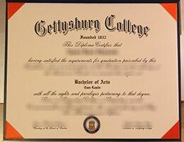 Gettysburg College certificate