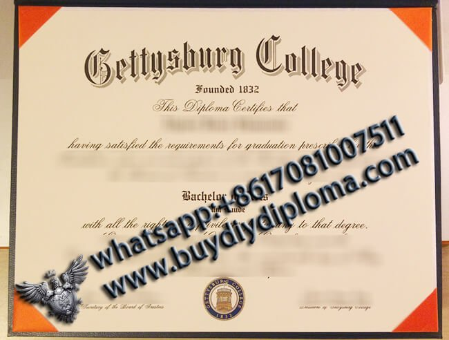 Purchase Gettysburg College Degree Certificate